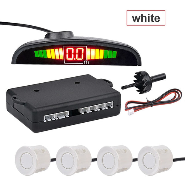 Automatic LED Parking Sensor with 4 Sensors - Gadgetir