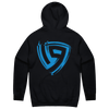 19esports Brush Blue Pullover Hoodie - Black
