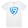 19esports Brush Logo Tee - White