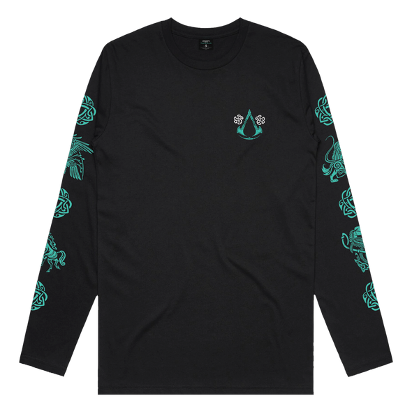 Assassin's Creed Valhalla: Circle Long Sleeve Tee - Black