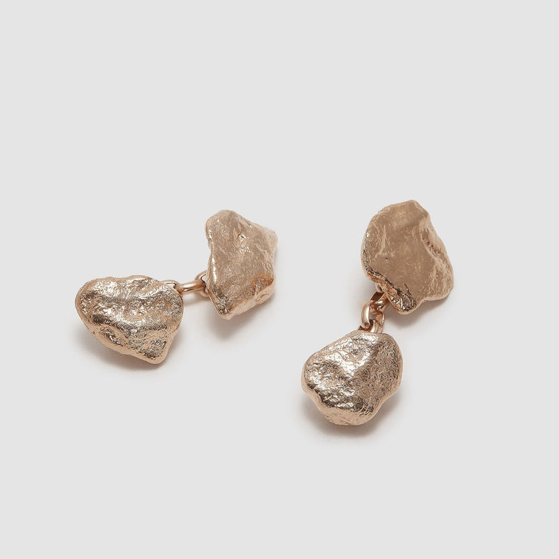 Gold Nugget Cufflinks