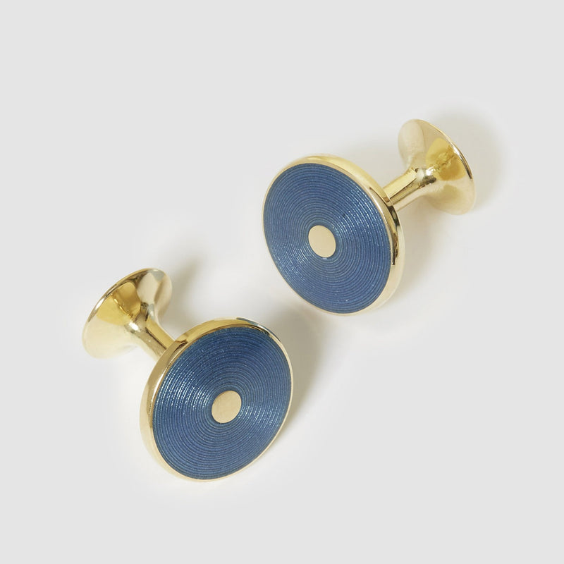 18 Carat Gold Disc Cufflinks