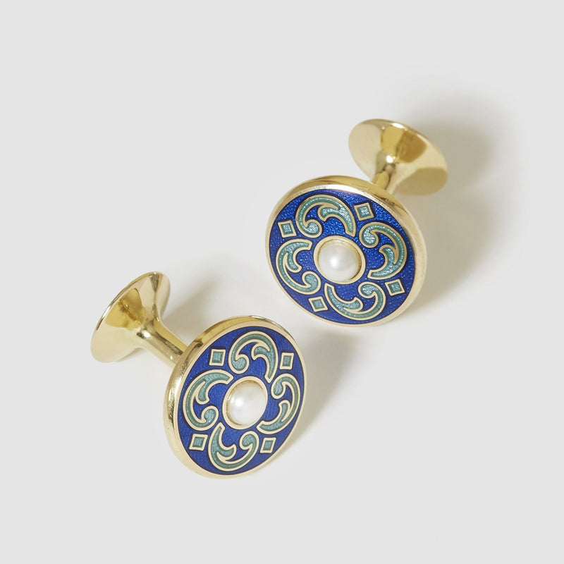 18 Carat Gold Persian Cufflinks