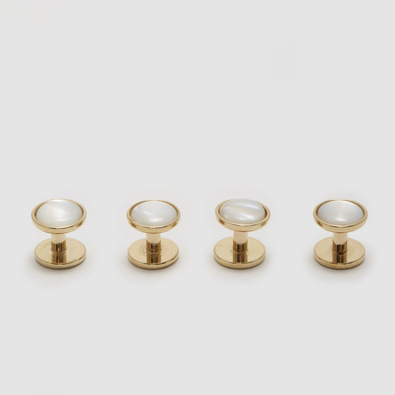 Mother of Pearl Capsule Stud Set