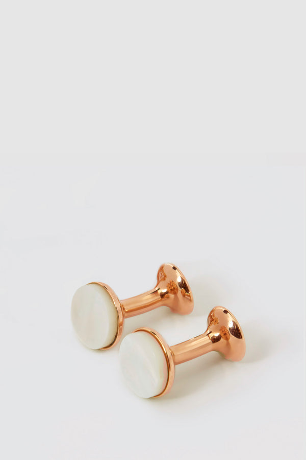 Mother of Pearl Bow Cufflinks