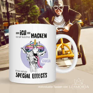 Kaffeetasse crazy unicorn