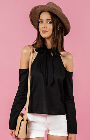 Black Bow Top