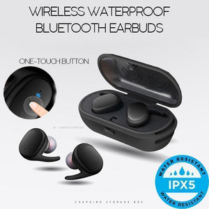 Wireless Waterproof Bluetooth Earbuds
