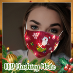 Load image into Gallery viewer, LED Christmas Glow Face Mask