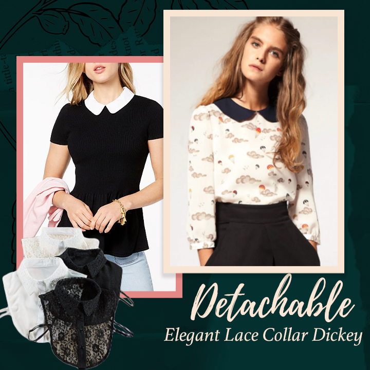 Detachable Elegant Lace Collar Dickey