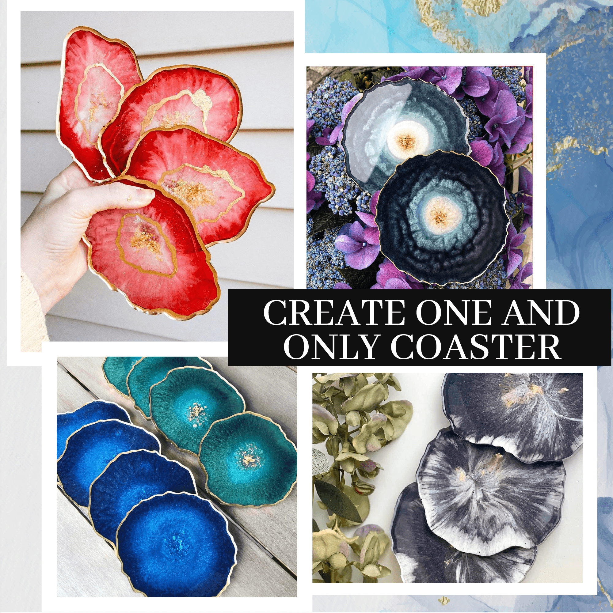 DIY Crystal Resin Coaster Kit