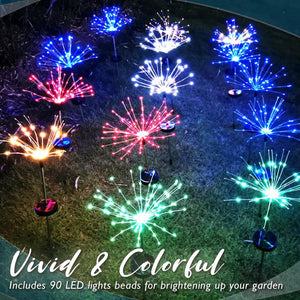 Solar Garden Fireworks Light (2pcs)