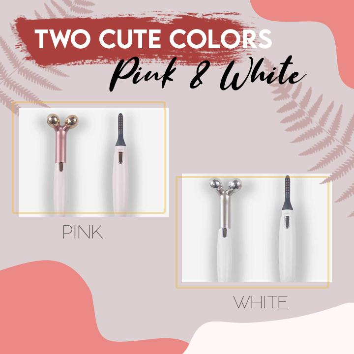 2-in-1 Eyelash Curler & Massager