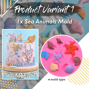 Sea Creatures Cake Mold