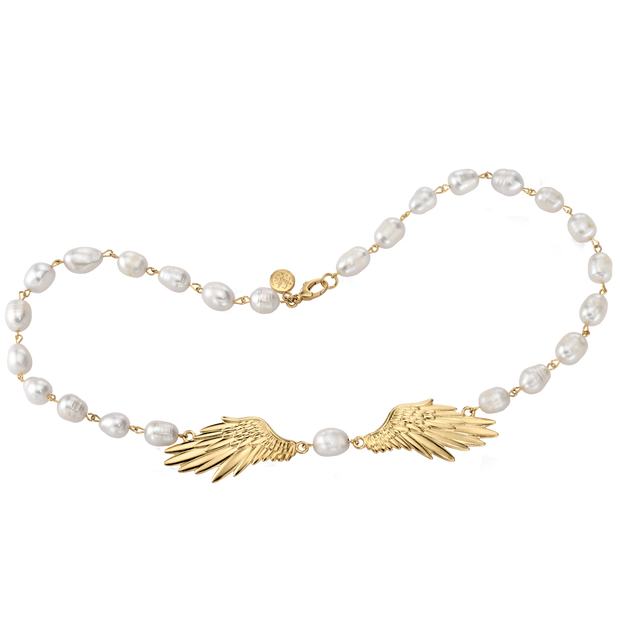 Angel Wing Pearl Necklace 1