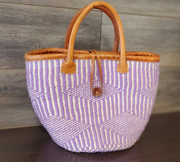 Kenyan Handwoven Shoulder Bag - Purple