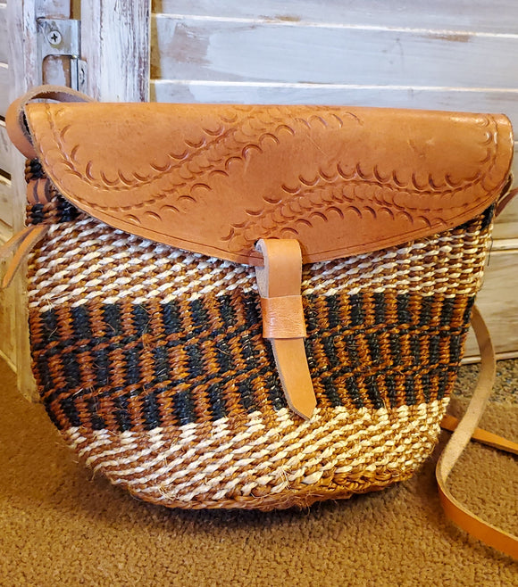 Kenyan Handwoven Shoulder Bag - Small