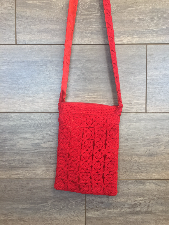Crochet Cross-Body Purse