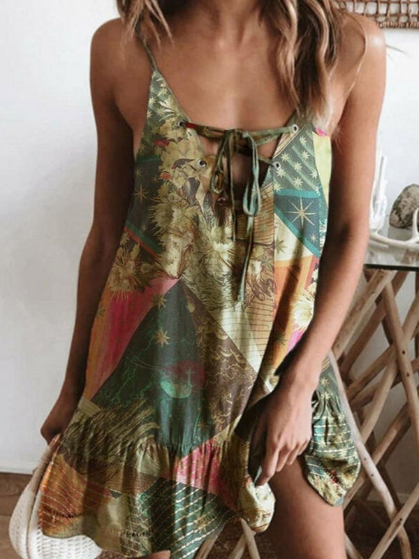 Women's Printed Camisole Dress