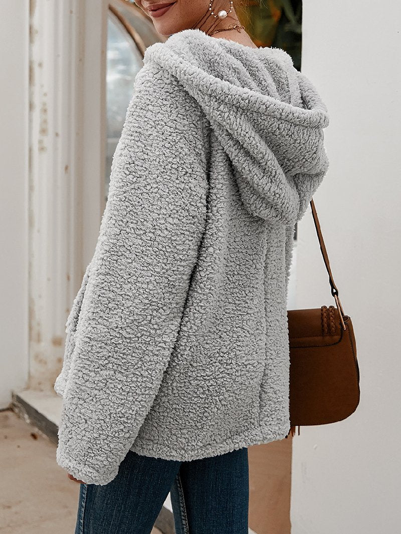 Women's Plus Size Hooded Padded Sweater