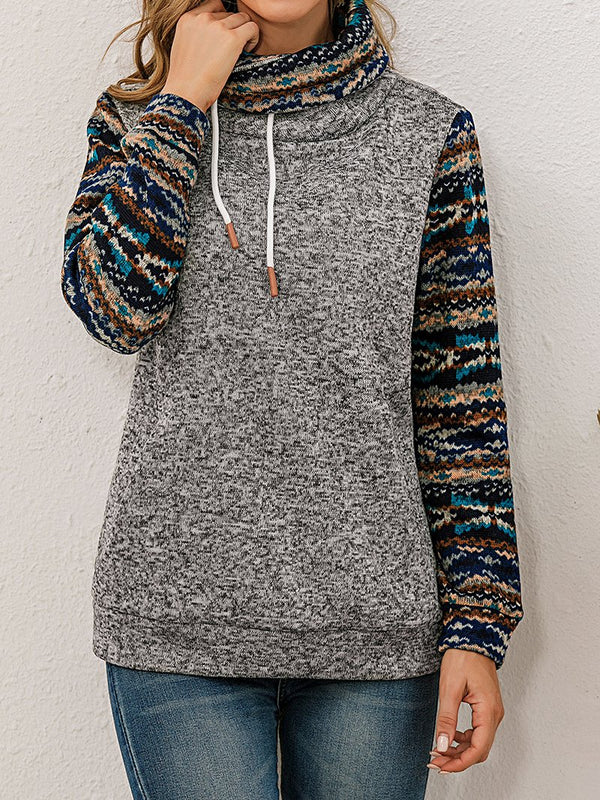 Retro Ethnic Print Sweatshirt