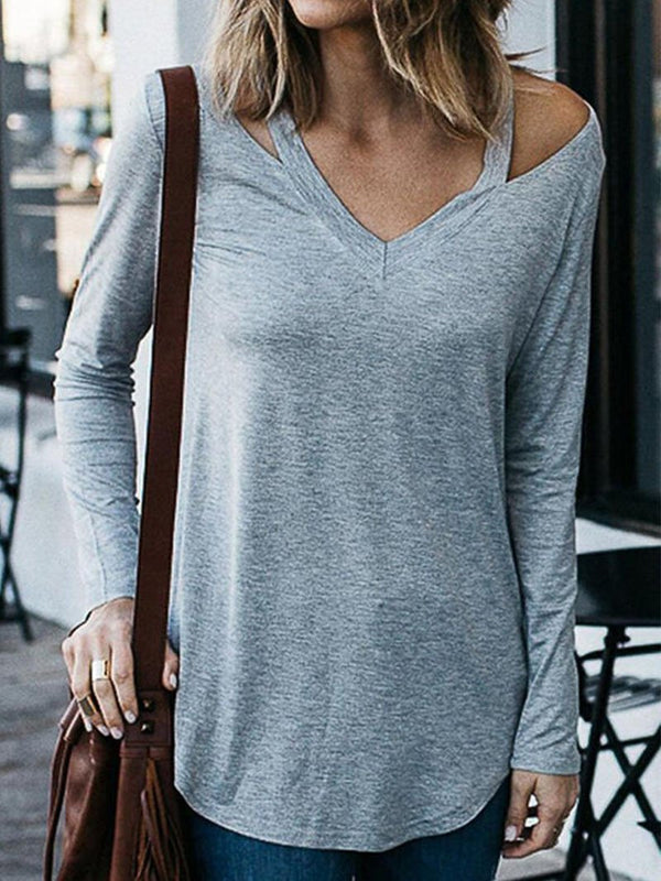 Women's V-neck Sexy Strapless Loose Tops