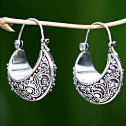 Vintage Silver Round Earrings