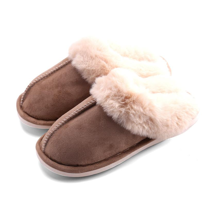 Fuzzy Home Slippers Men's and Women's Warm Indoor and Outdoor Slippers
