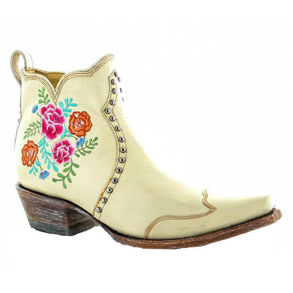 Embroidery Rivets Cowgirl Boots