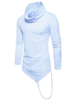 British Men's High Collar Irregular Long Sleeve T-shirt