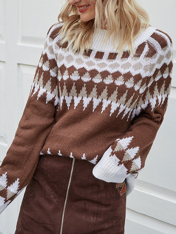 British Style Retro Knitted Sweater