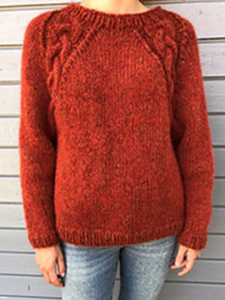 Fall and Winter Warm Twist Long Sleeve Sweater Tops
