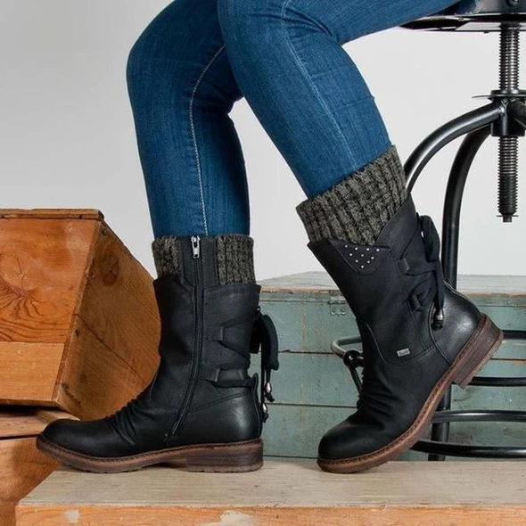 Winter Warm Back Lace Up Boots Shoes