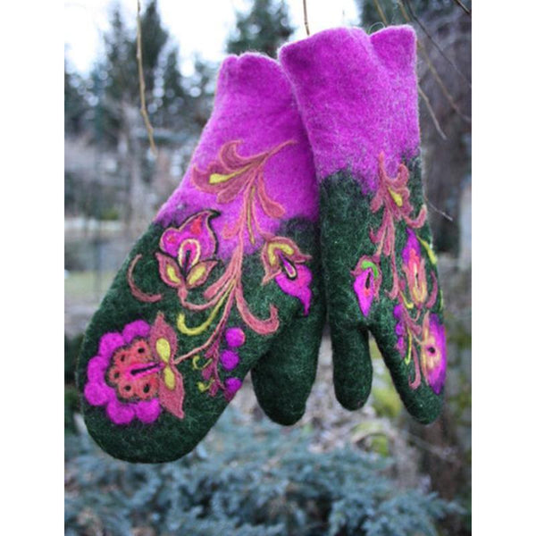 Embroidered Colored Gloves
