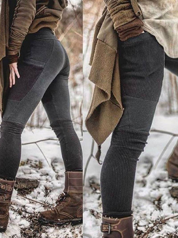 Organic Cotton Thermal Fleece Stretch Leggings Snow Pants