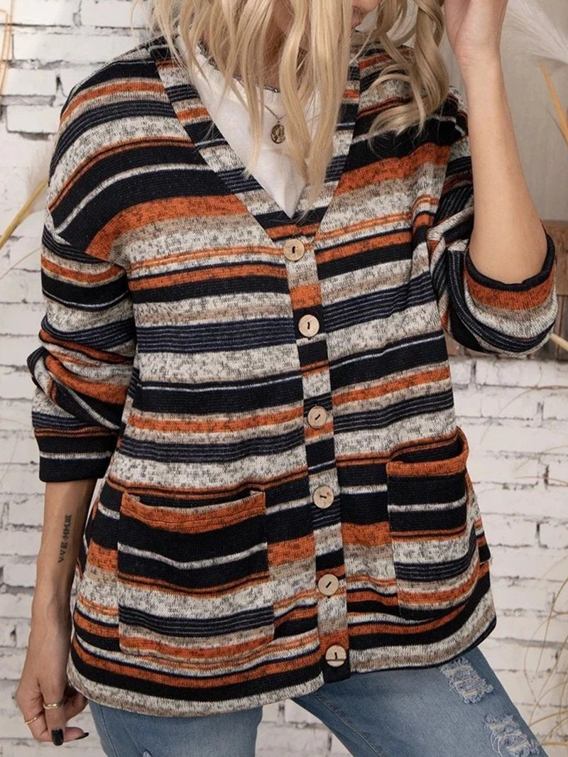Vintage Western Striped Print Sweater
