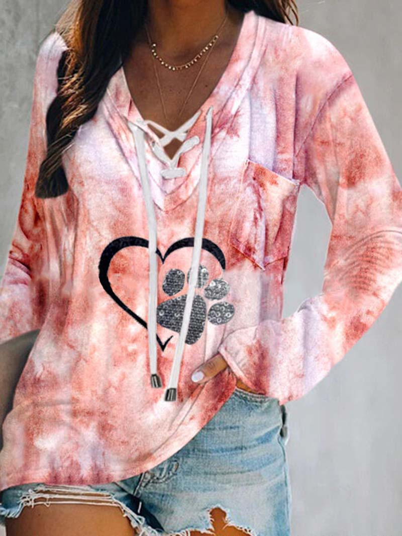 Tie Dye Long Sleeve Shirt Tops
