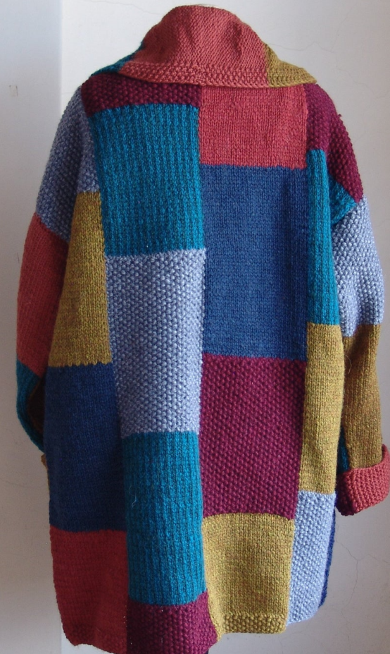 Geometric patterns Multi-color Cardigan Sweater Coat