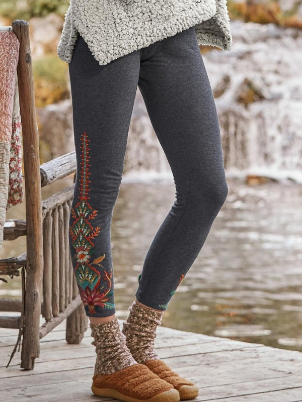 Casual Printed Leggings Pants