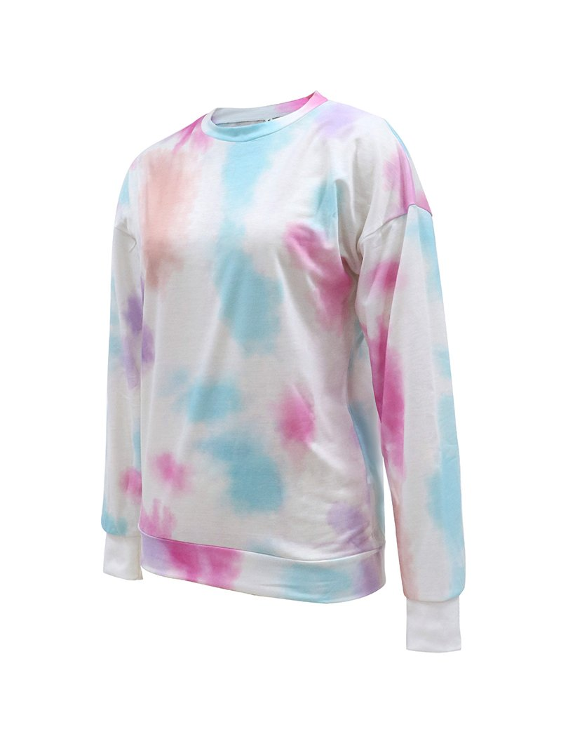 Gradient Round Neck Long Sleeve Sweater