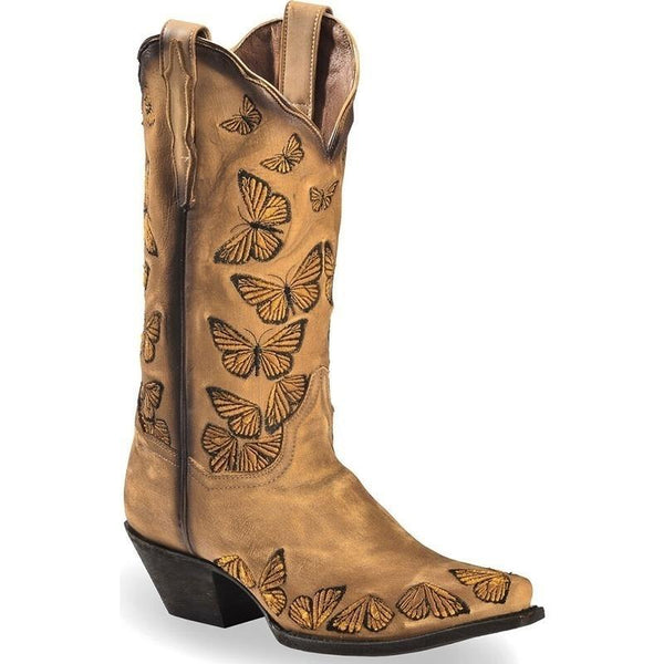 Butterfly Embroidered Fashion Boots National Style Cowgirl Boots