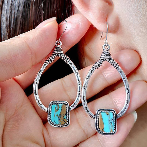 Vintage Turquoise Earrings Drop Earrings