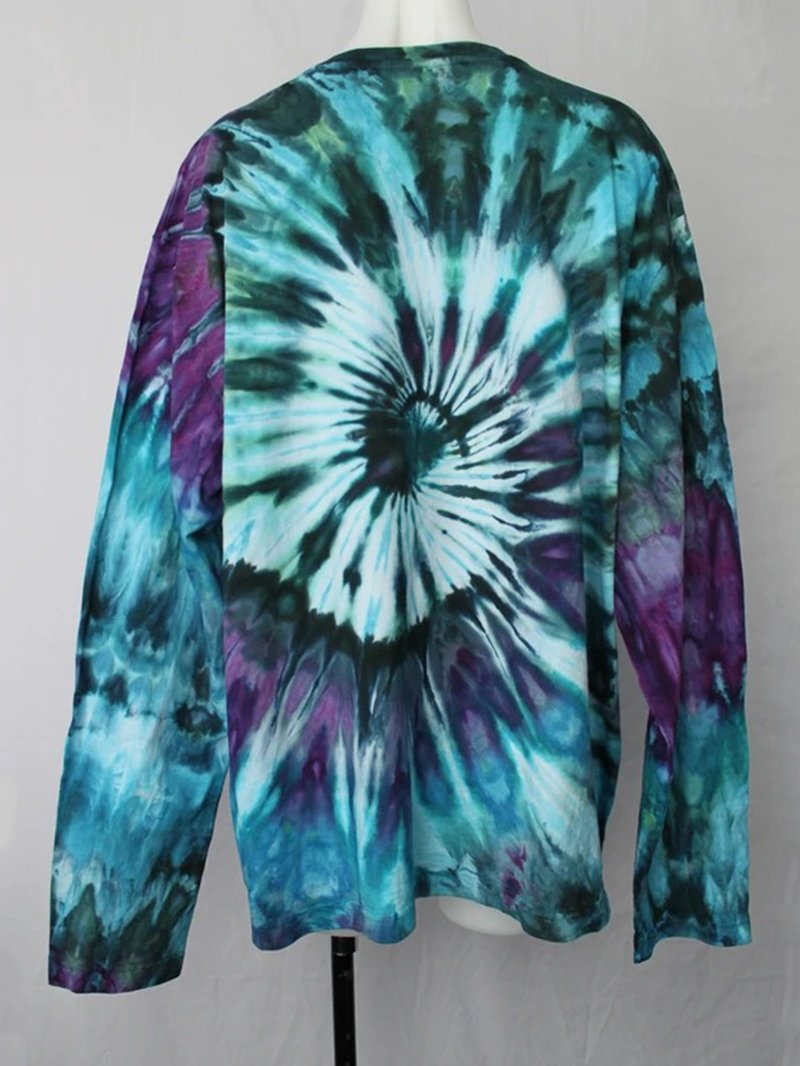 Women's Tie-dye Crew Neck T-shirt