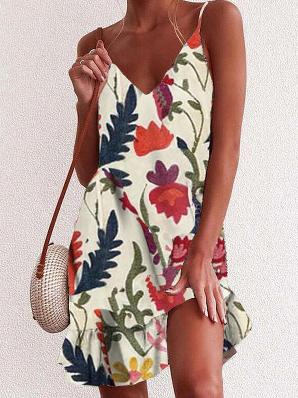 Women's Printed Camisole Dress-2