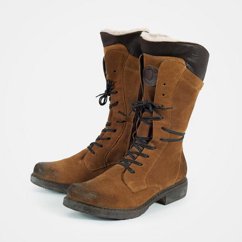 Cross Lace Up Mid-Length Warm Snow Boots for Women
