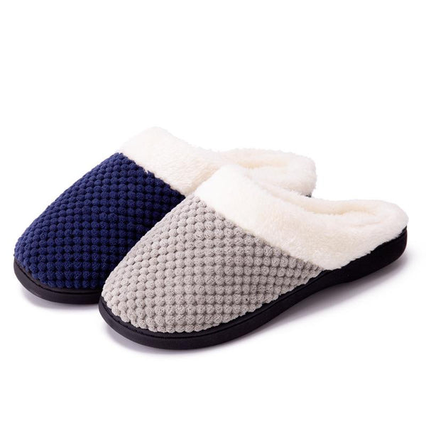 Sponge Slippers Wool Faux Fleece Lined Shoes