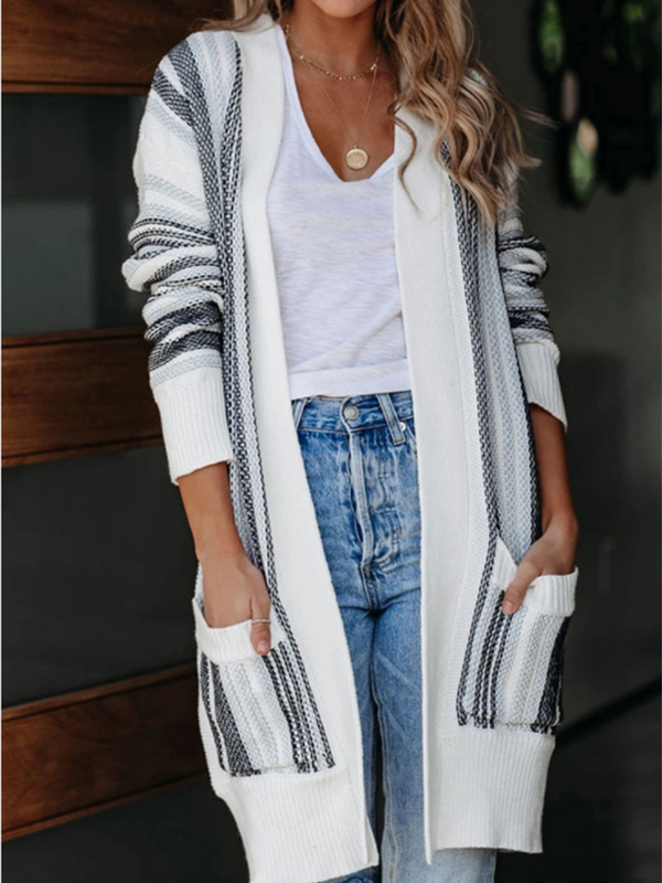 Irregular Sweater Long Coat