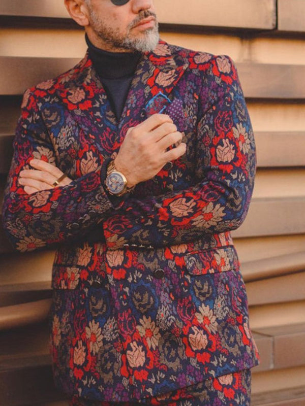 Fashion Printed Business Coat