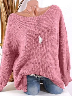 Women's Plus Size Loose Long Sleeve Sweater