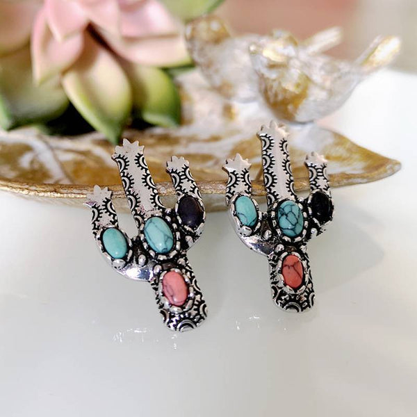 Vintage Cactus Earrings